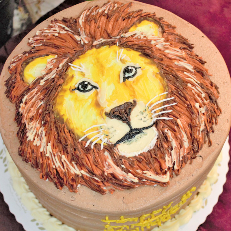 Realistic Lion Face Cake