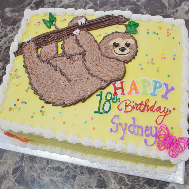 Slow Happy Sloth Cake