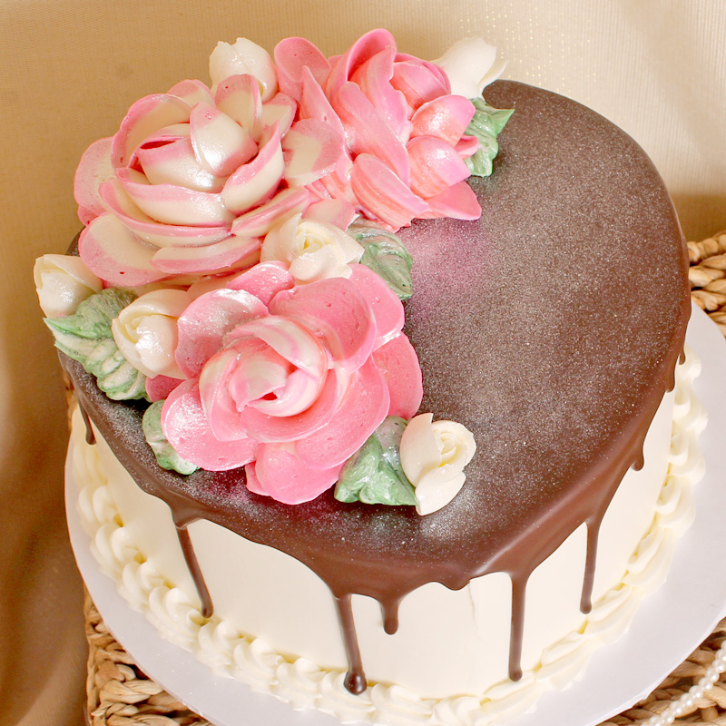 Heavenly Chocolate Strawberry and Mousse Filled Heart Shaped Cake
