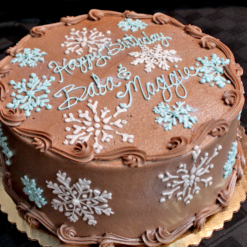 Snowflakes Over Chocolate Buttercream