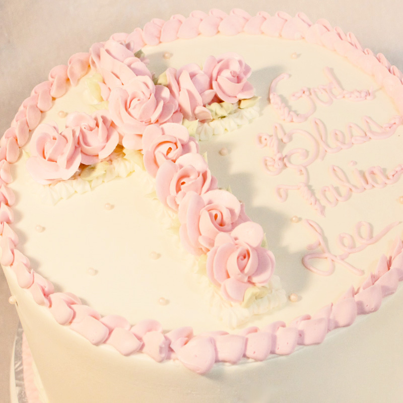 Pink Rose Cross Cake