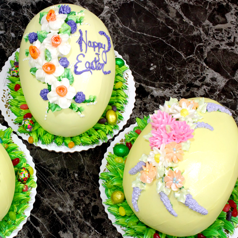 Yellow Easter Egg Cakes