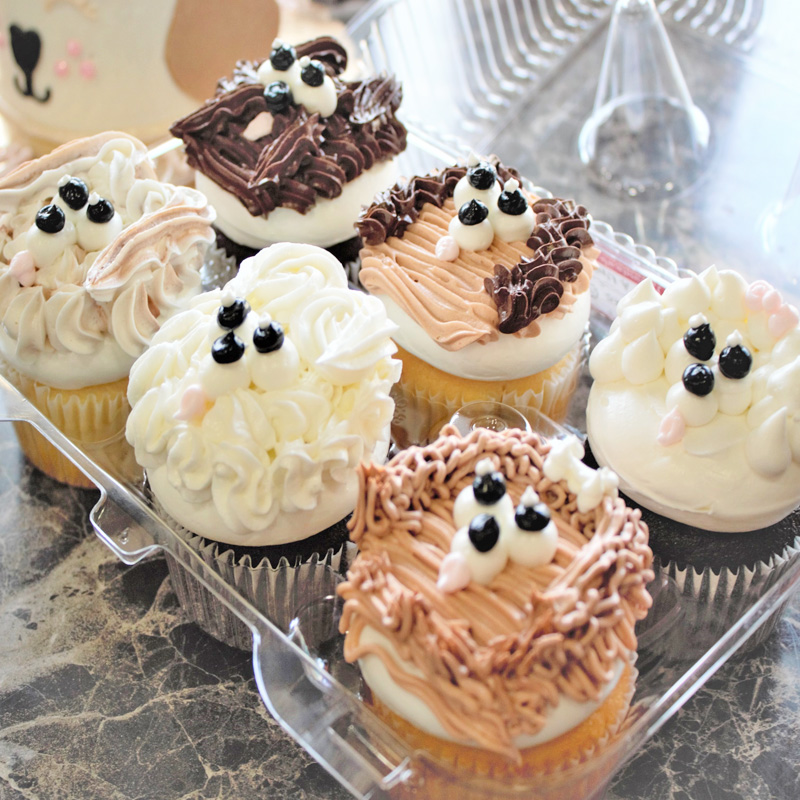 Puppy Dog Mix Cupcakes