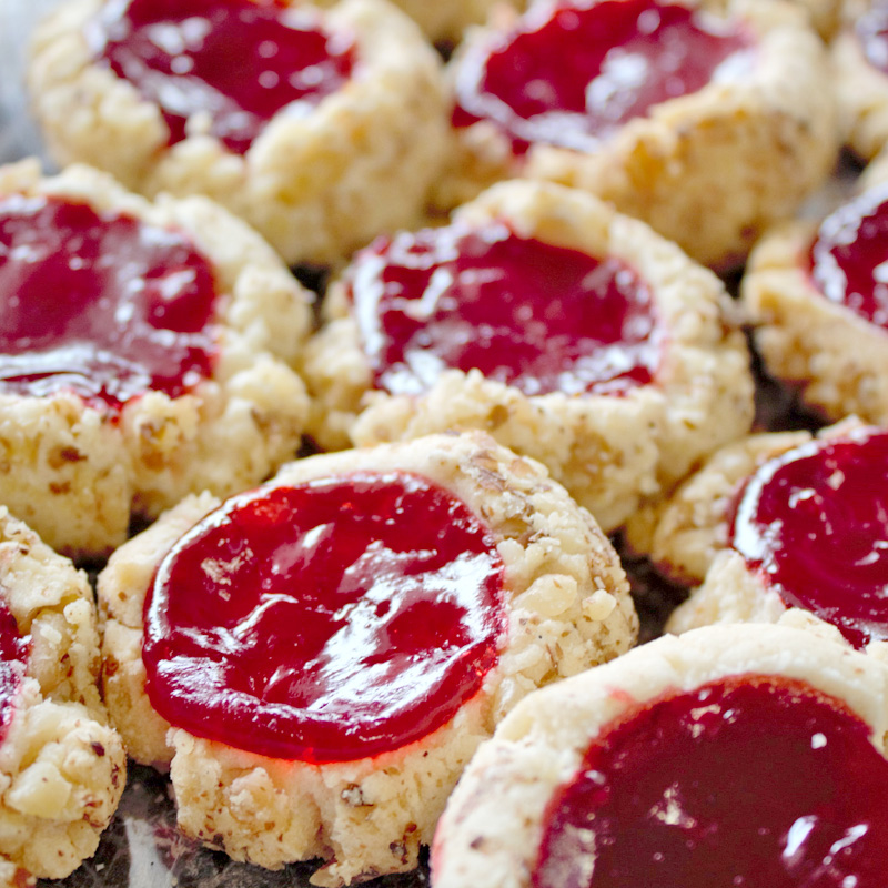 Gluten Free Raspberry Topped Thumbprints