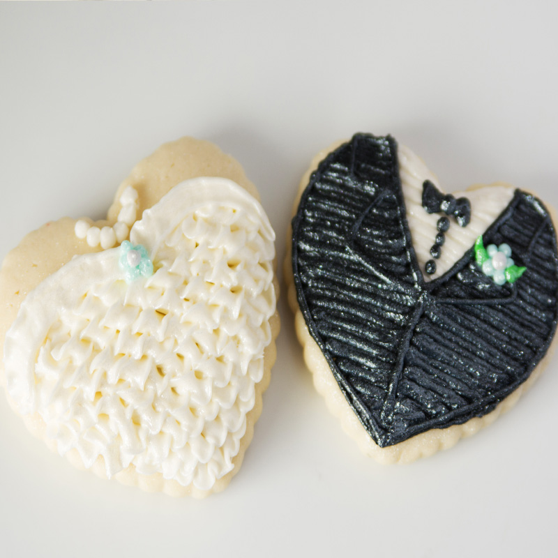 Bride And Groom Hearts 1