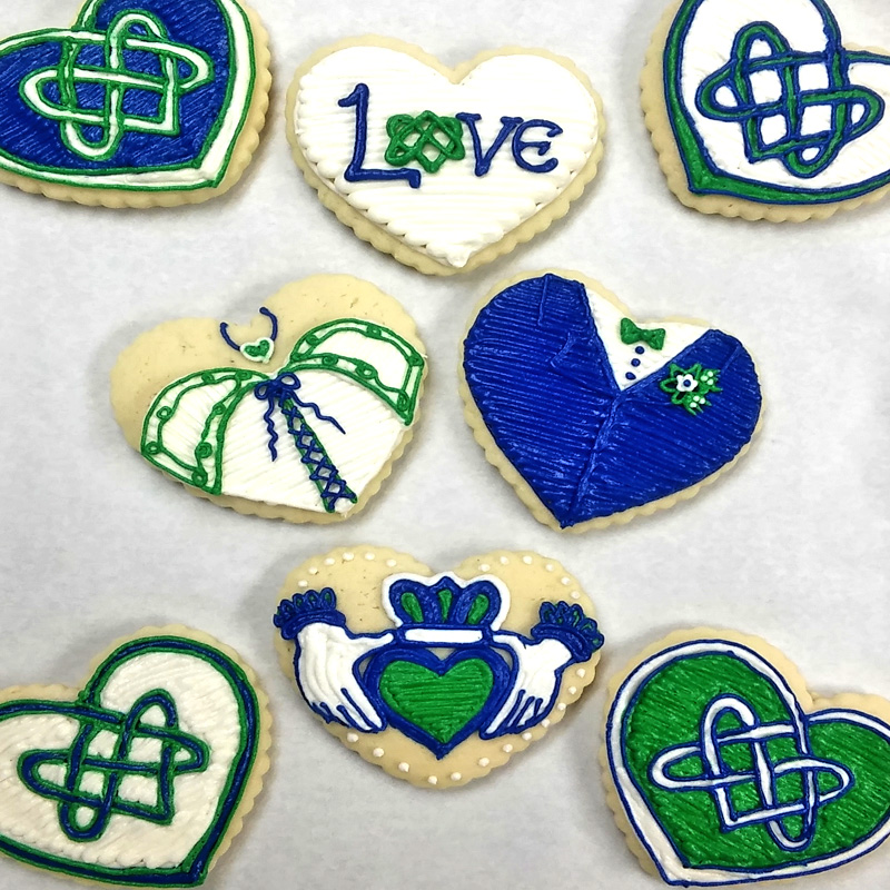 Custom Celtic Wedding Cookies
