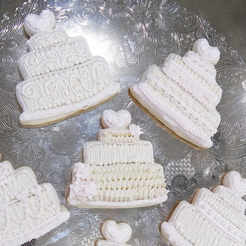 Customer Wedding Cake Cookies 2