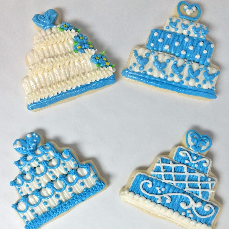 Customer Wedding Cake Cookies 3