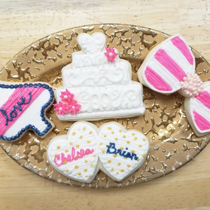 Kate Spade Influenced Bridal Shower Cookies