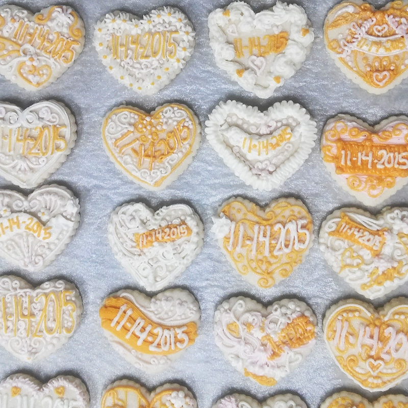 Save The Date Heart Cookie Assortment