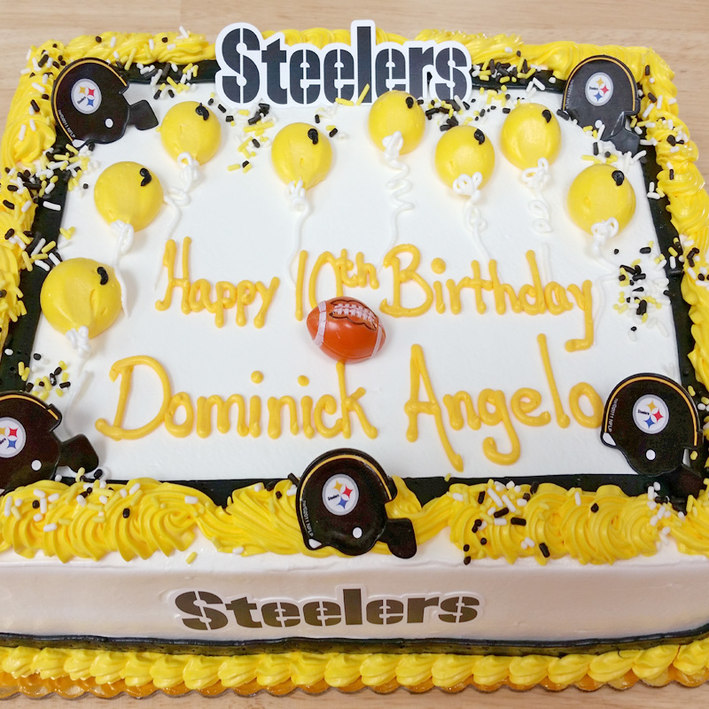 Steelers Steel Curtain & Balloons Framed Cake